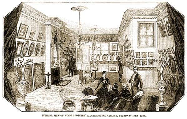 Interior View of Meade Brothers' Daguerreotype Gallery