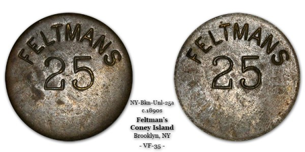 Feltman's Token 25-cents