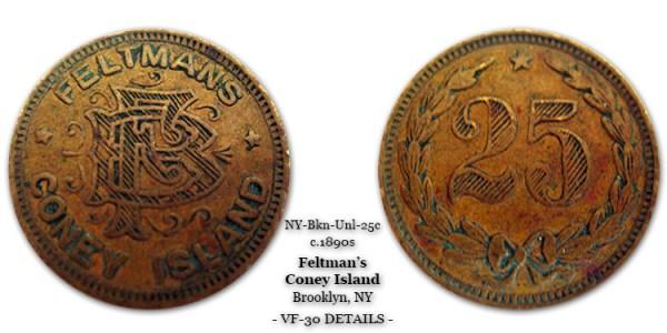 Feltmans Coney Island Token 25-cents