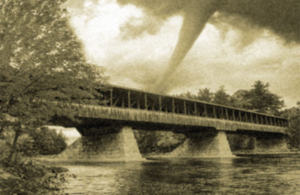 Artist's Rendering of Tornado and Bridge