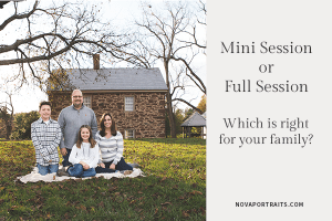 Mini Session or Full Session, which is right for your family? Image of family in Northern Virginia by Rebecca McGonigle of NOVA Portraits