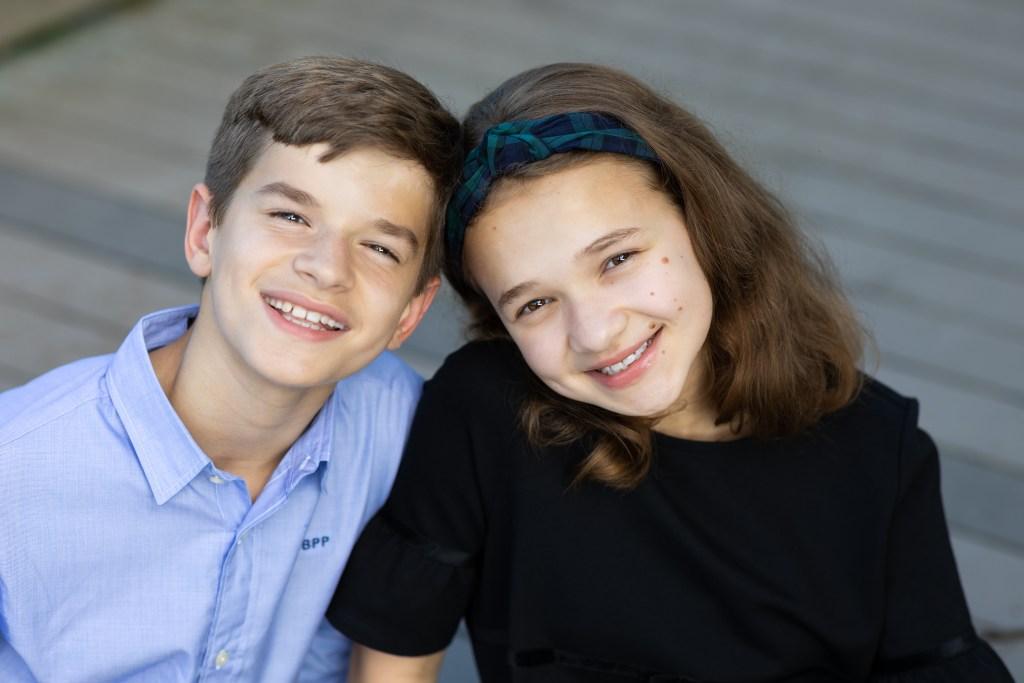 Beautiful siblings portrait in Reston VA by NOVA Portraits