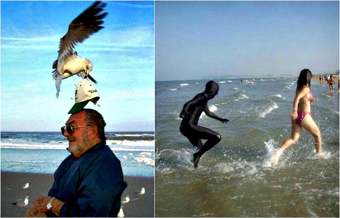 Забавные снимки о пляжном отдыхе.