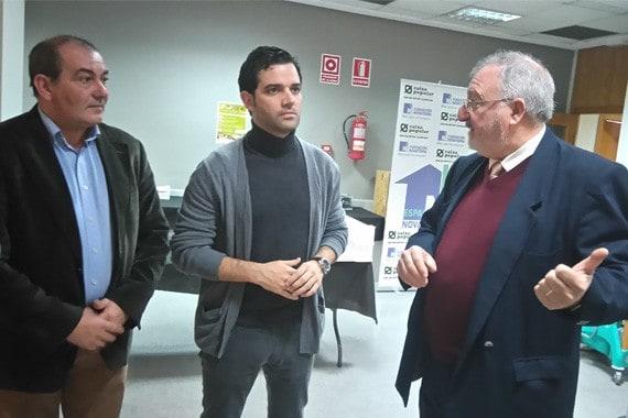 El Alcalde de Paterna, Sagredo, visita las instalaciones de Espai Novaterra en La Coma