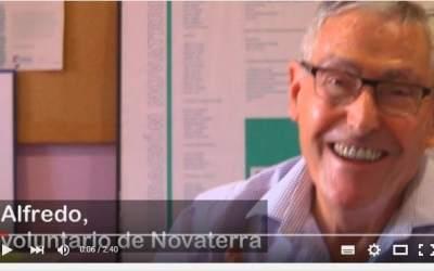 Alfredo, voluntario de Novaterra: «Novaterra es para mí Ayuda»