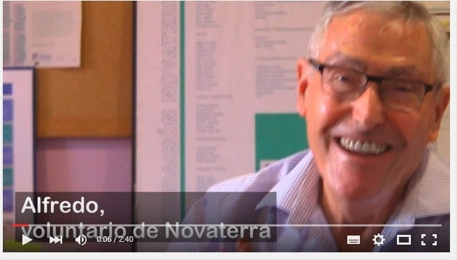 """Alfredo, voluntario de Novaterra: """"Novaterra es para mí Ayuda"""""""