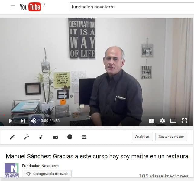 Manuel Sánchez: Gracias a este curso hoy soy maître en un restaurante