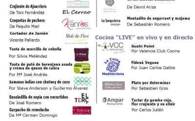 Menú de la II Gala de la Gastronomía Solidaria