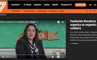 """Novaterra en el programa """"Gastroteca"""" de Tele 7 Valencia"""