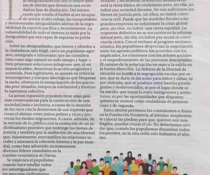 """Ximo Garcia Roca: """"Desigualdad y populismo"""""""