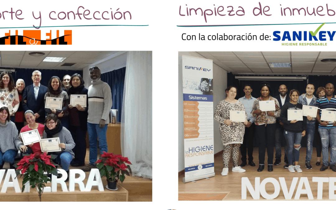 Por segundo año consecutivo, Novaterra desarrolla el programa «Itinerarios de inserción» financiado por la Generalitat Valenciana y la Unión Europea