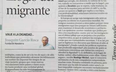 """Ximo García-Roca: """"Elogio del migrante"""