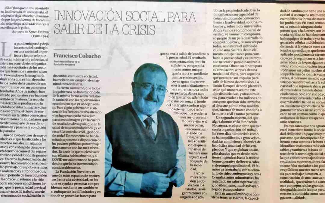 """Paco Cobacho: """"Innovación social para salir de la crisis"""""""