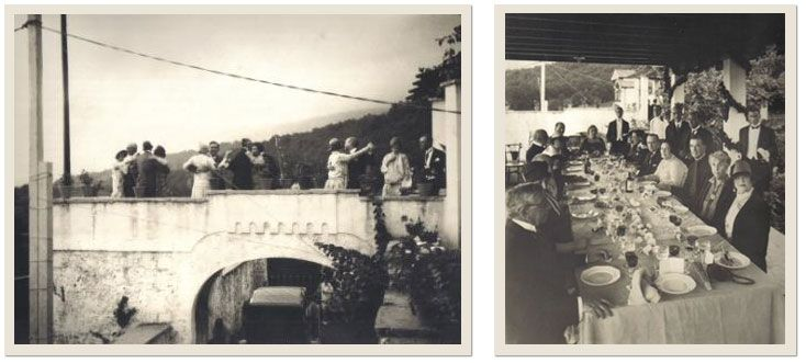 Boda de la familia Gómez-Mena en los jardines de Villa Daría en Cadagua de Mena