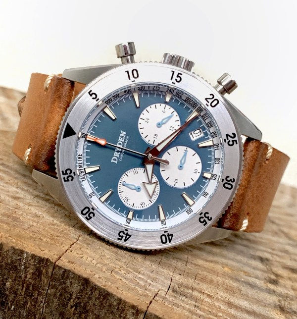 Dryden Watch Co - DCD-1 - Blue Face - Leather Strps