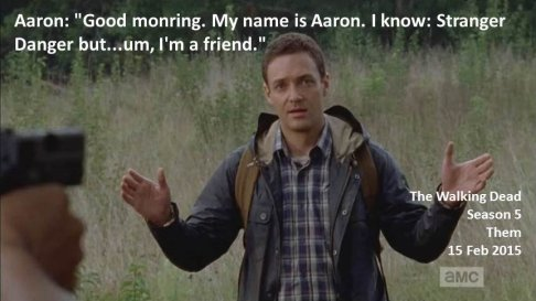 Aaron Stranger Danger Walking Dead