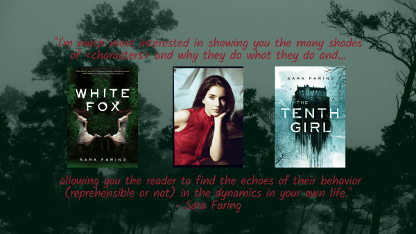 White Fox Author Sara Faring Interview