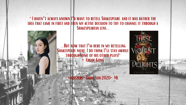These Violent Delights Chloe Gong Interview