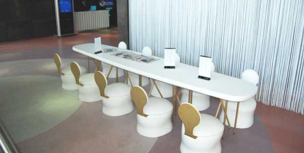 Mesas de restaurante de un hotel