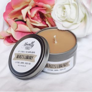Beast's Library | 8oz tin | Novelly Yours Candles