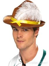 Bavarian Hat, Brown hat with Feathers