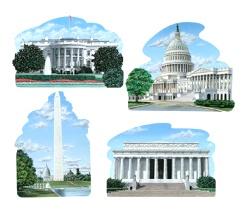 Washington DC Cutouts (4/pkg)