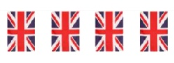 Union Jack Flag Bunting 6mtr 100% Poly