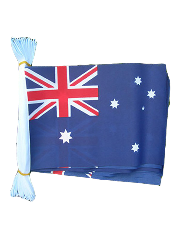 Australia Flag Bunting Rectangular Flags 6m long 20 flags