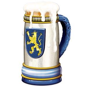 Jumbo Beer Stein Cutout 3'