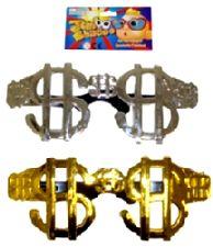 Jumbo-Sized Dollar Shaped Specs Assorted Metallic Colours  (1)