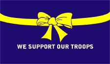 Support Our Troops Blue Flag 5ft x 3ft With Eyelets