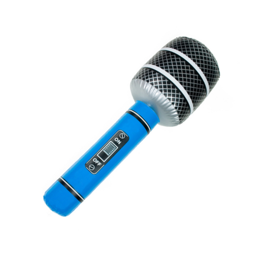 Music inflatables microphone by Tony Robinson (via Shutterstock).