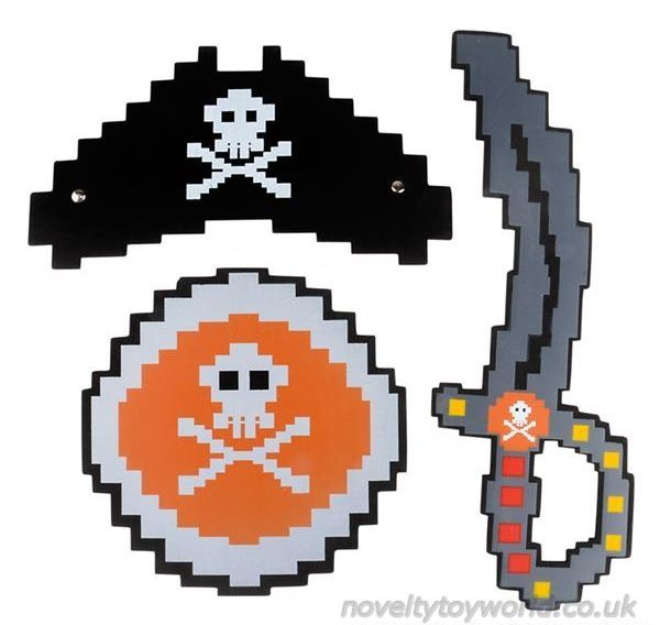 Wholesale Childs Foam Pixel Pirate Outfit Sword