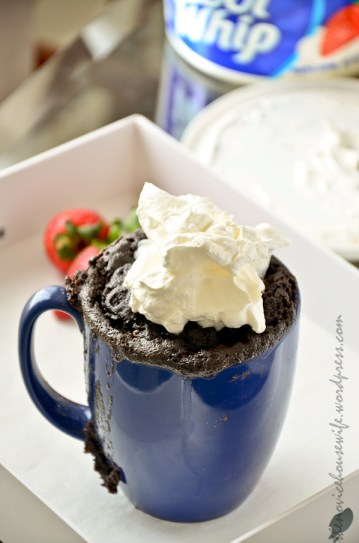 Nutella Mug Cake- 5 minute mug cake for a quick chocolate fix.