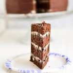 Layer Cake Love: Four layer chocolate cake with oreo cream filling!