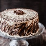 Chocolate and Vanilla Five Layer Cake