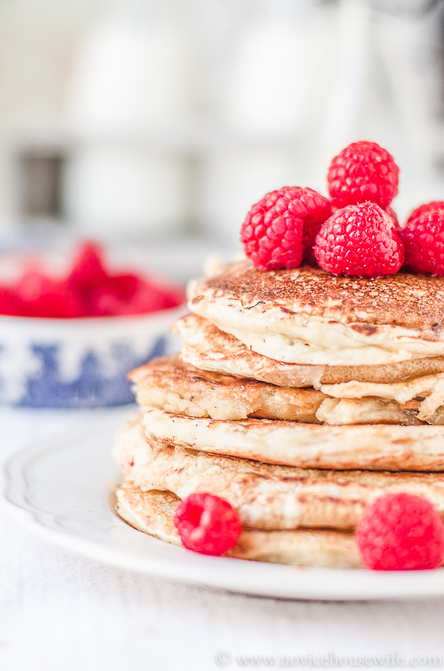 Fluffy Pancakes from Scratch! - The Novice Housewife