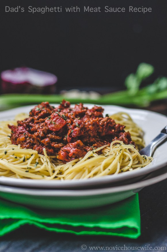 Dad's spaghetti sauce recipe