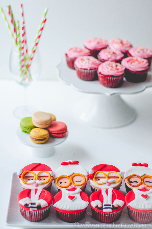 Christmas Red Velvet cupcakes The Novice Housewife #christmas #redvelvet #cupcakes