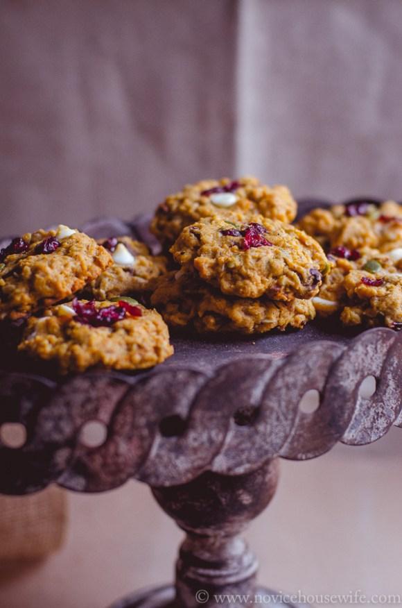 Pumpkin and oatmeal cookies-7