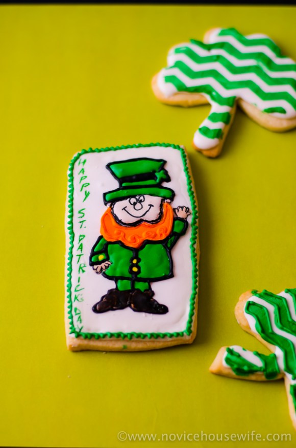 St. Patrick's Day theme Sugar Cookies | The Novice Housewife