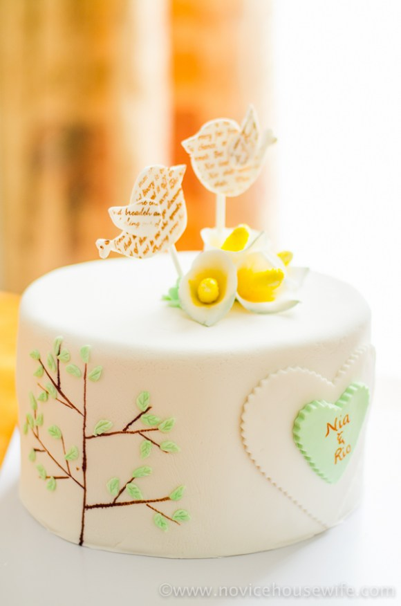 Bird and Tree Themed Five Year Anniversary Cake | The Novice Housewife