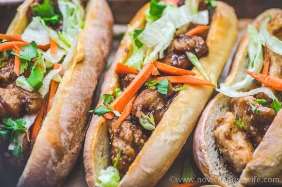 Drunken Chicken Banh Mi | The Novice Housewife