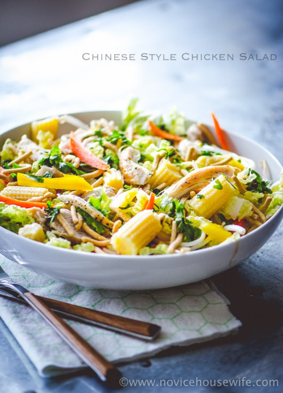 Chinese Style Chicken Salad | The Novice Housewife