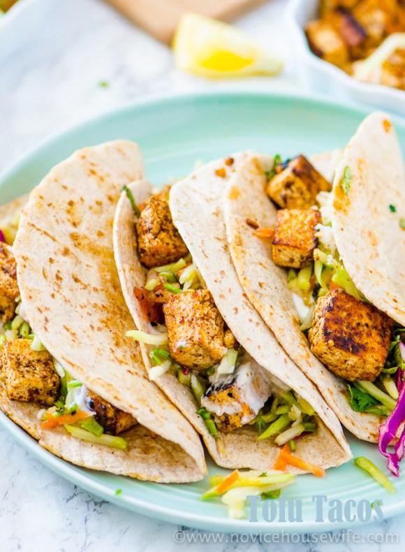 Tofu tacos | The Novice Housewife
