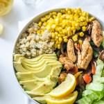 Chicken Fajita Quinoa Bowl