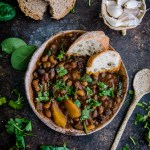 Hearty Ten Bean Soup/Stew with Spinach and Potatoes