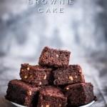 Eggless Brownie Cake