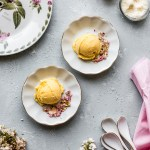 Mango Passionfruit Ice Cream {eggless}