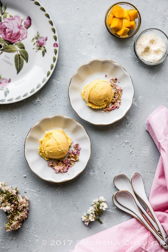 Easy Mango Passionfruit Ice cream recipe (eggless)